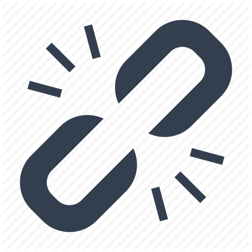 Broken, Chain, Link, Share Icon