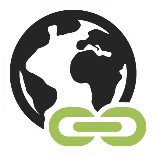 Earth Link Icon Iconexperience