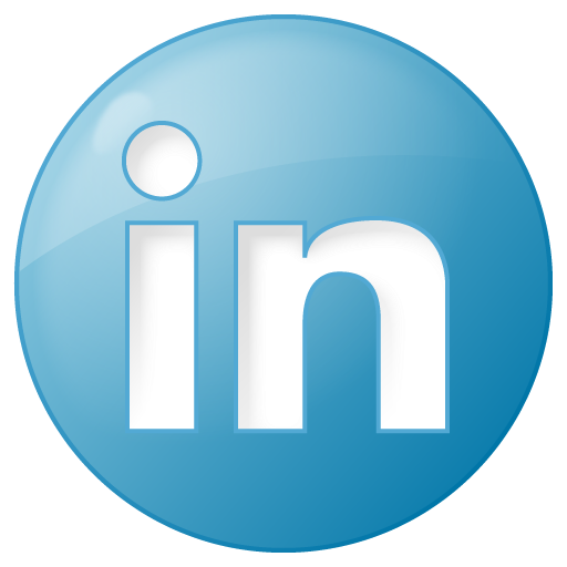 Social Linkedin Button Blue Icon Social Bookmark Iconset Yootheme