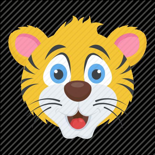 Animal, Cartoon Character, Lion Face, Tiger, Wildlife Icon