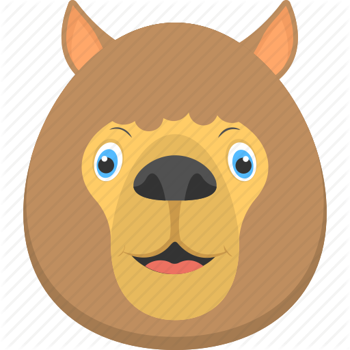 Fat Lion, Furry Lion, Lion Face, Smiling Lion, Wild Animal Icon