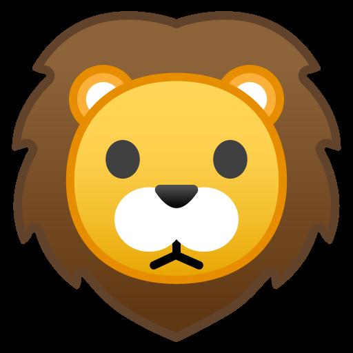Lion Face Icon Noto Emoji Animals Nature Iconset Google