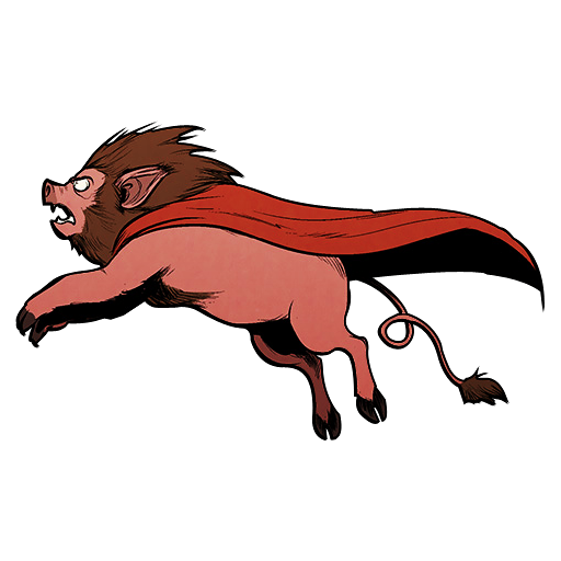 Super Lion Pig Icon Axe Cop Iconset Michael Beach