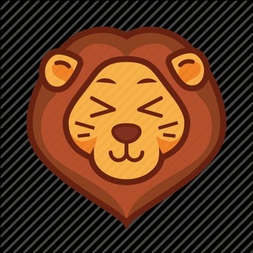 Adorable, Cute, Emoticon, Lion Icon