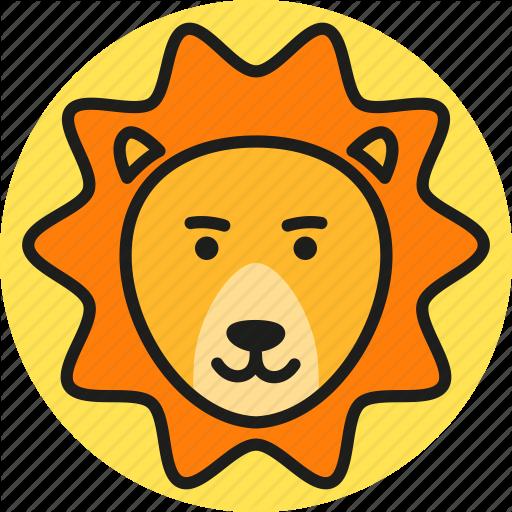 Animal, Cute, Lion, Logo, Nature, Wild, Zoo Icon