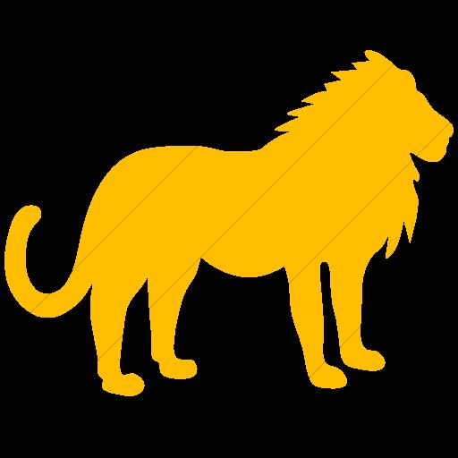 Simple Yellow Animals Lion Icon