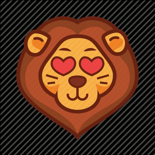 Emoticon, Heart, Lion, Love Icon