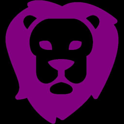 Purple Lion Icon