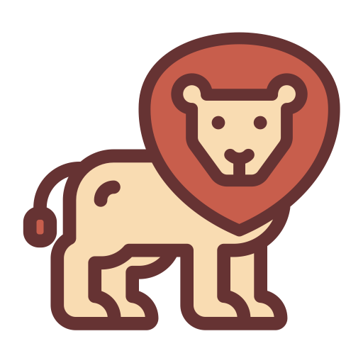 Lion, Multicolor, Lovely Icon With Png And Vector Format For Free