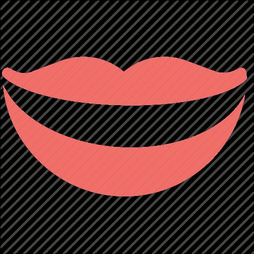 Female Lips, Lips, Mouth, Smile, Smiling, Smiling Lips Icon