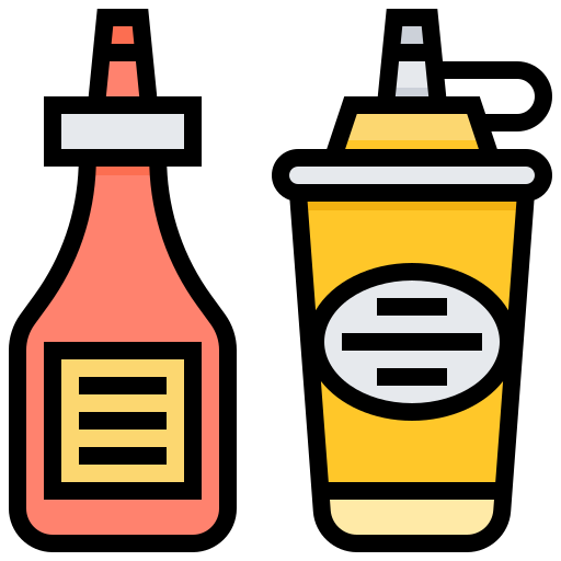 Flovouring, Ketchup, Liquid, Sauce, Seasoning Icon Free Of Street