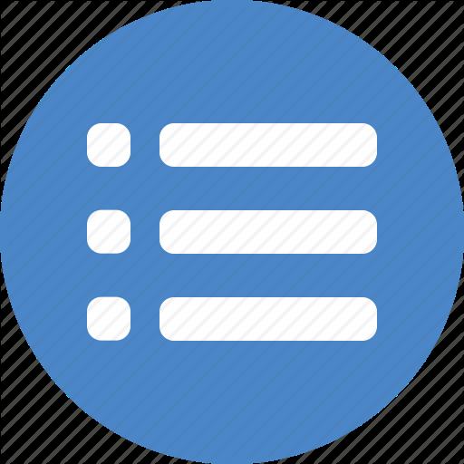 Blue, Checklist, Circle, Feed, List, Playlist, Tasks Icon