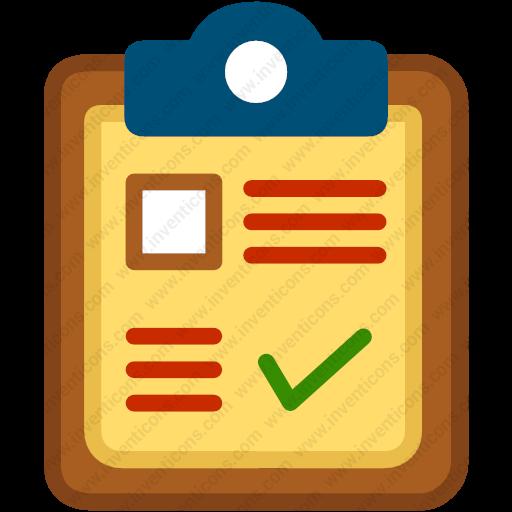 Download Tick,clipboard,page,paper,list Icon Inventicons