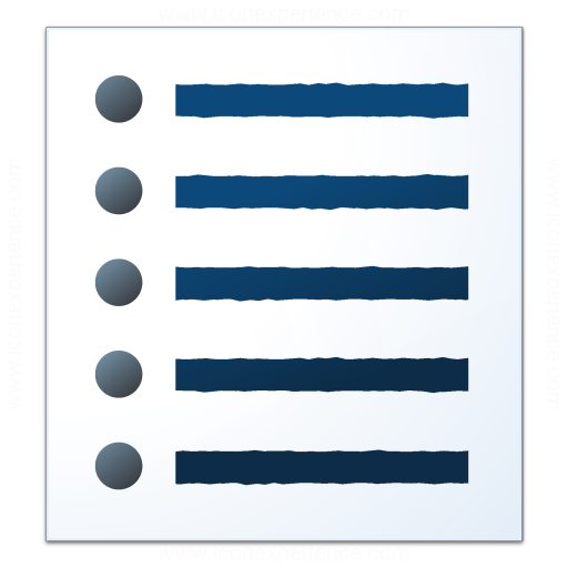 Iconexperience V Collection Text List Bullets Icon