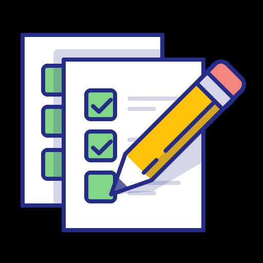 Exam, Todo, Checkmark, Done, Pencil, List Icon