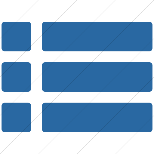 Simple Blue Layouts Rounded Short List View Icon