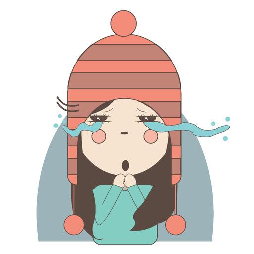Little Girl In Snow Cap!