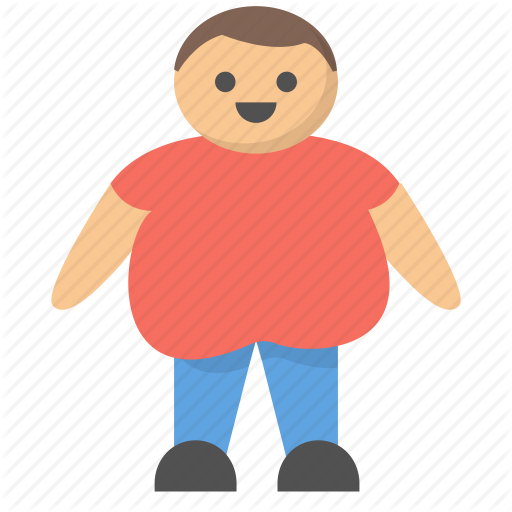 Big, Fat, Large, Man, Obese, Overweight, Person Icon