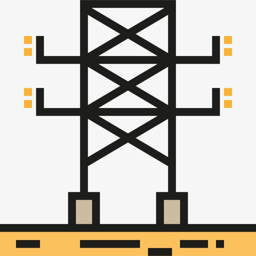 Telephone Pole, Telephone Clipart, Power Station Png Image