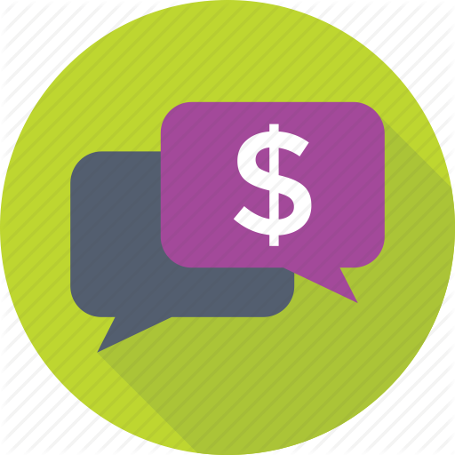Business Talk, Chat Bubble, Dollar, Live Chat, Online Business Icon