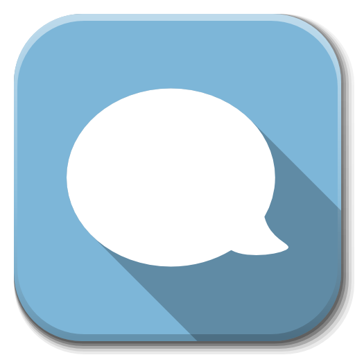 Apps Chat B Icon Flatwoken Iconset Alecive
