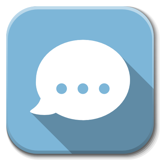 Apps Chat Icon Flatwoken Iconset Alecive