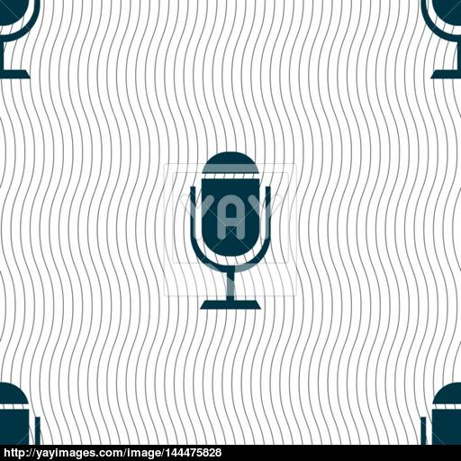 Microphone Icon Speaker Symbol Live Music Sign Seamless Pattern