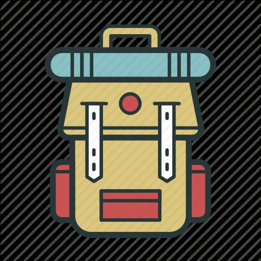 Backpack, Bag, Rucksack, Transportation, Travel, Vacation Icon