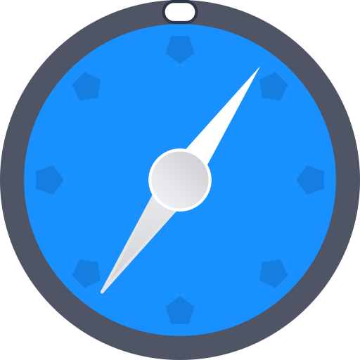 Rounded, Compass, Location Icon Free Of Round Varieties
