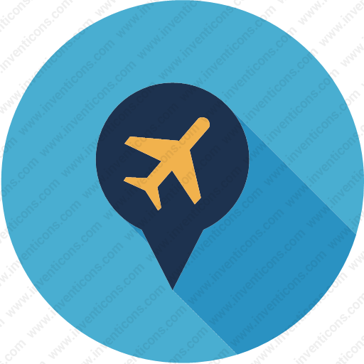 Download Location,map,gps,navigation,pin,plane Icon Inventicons