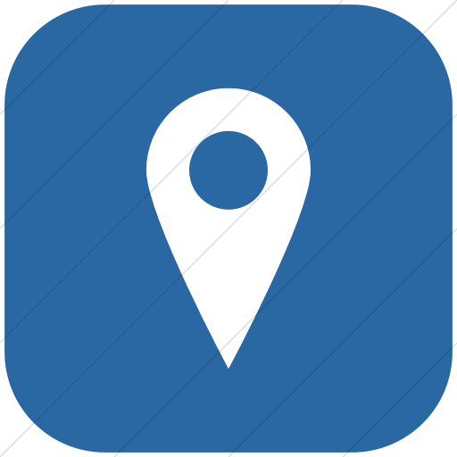 Flat Rounded Square White On Blue Raphael Location Icon