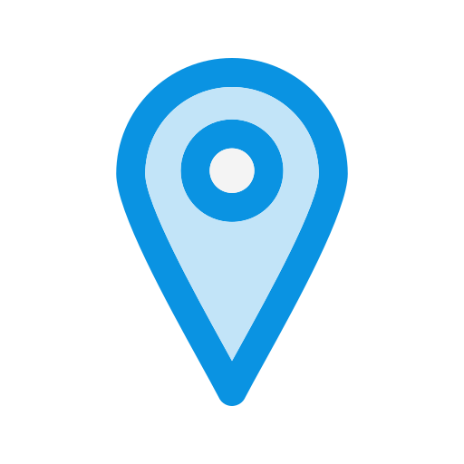 Location, Point, Pointer, Map Icon Free Of Universal Blue Line