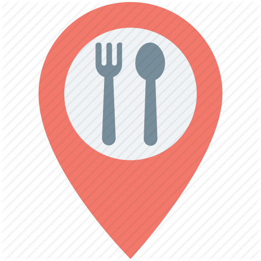 Food Place, Map Pin, Restaurant Location, Restaurant Nearby