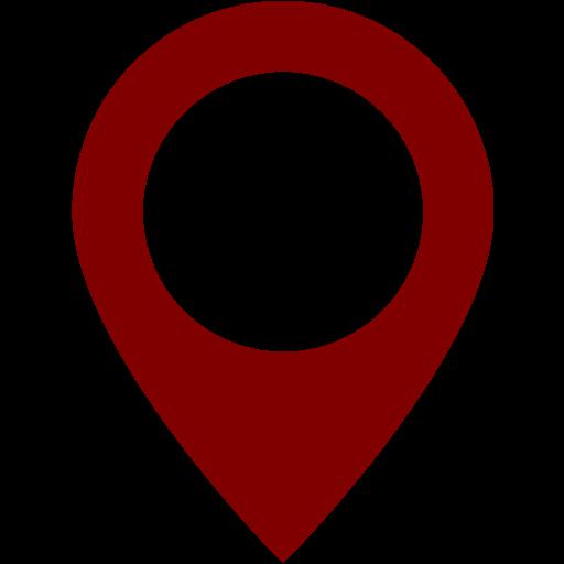 Maroon Map Marker Icon