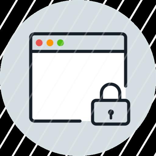 Application Windows Lock Iconbasket