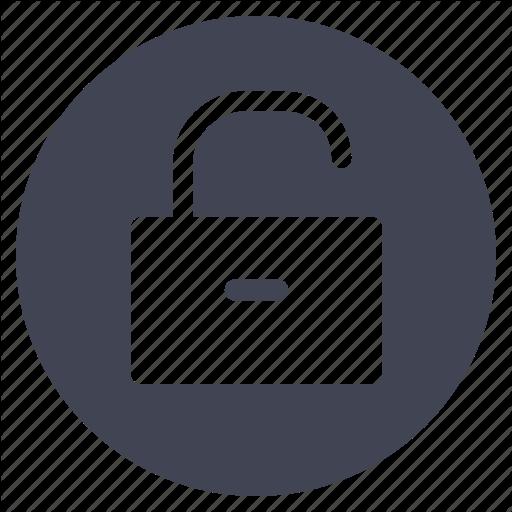 Business, Lock, Protection, Security, Unlock, Unlocked Icon