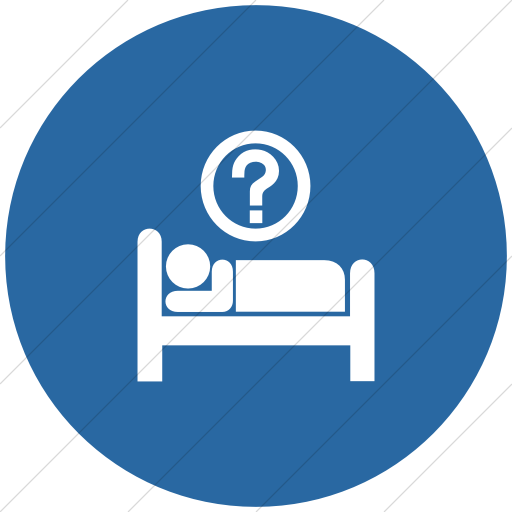 Flat Circle White On Blue Aiga Hotel Information Icon