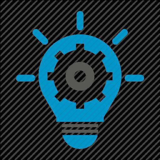 Bulb, Cog, Gear, Idea, Innovation, Light, Logic Icon
