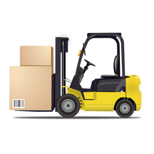 Forklift Logistic Icon