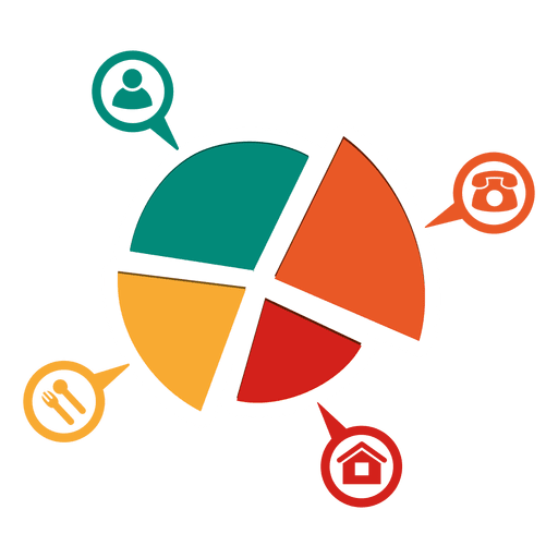 Parts Piechart With Icons