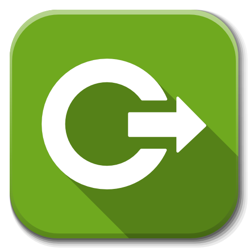 Apps Dialog Logout Icon Flatwoken Iconset Alecive