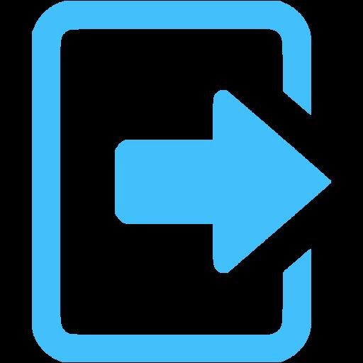 Caribbean Blue Logout Icon