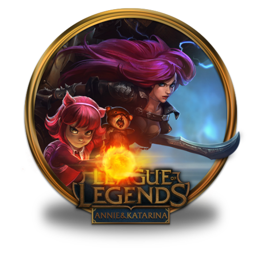 Annie Katarina Icon League Of Legends Gold Border Iconset