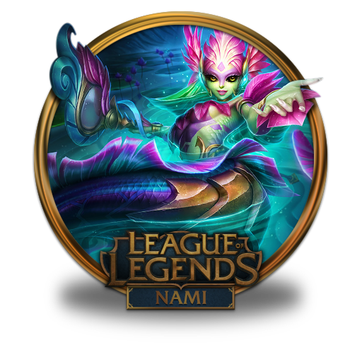 Nami River Spirit Icon League Of Legends Gold Border Iconset