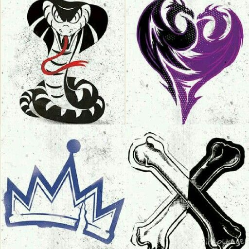 The Main Characters's Icons Descendants Party