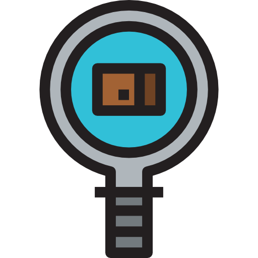 Web Magnifying Glass Icon
