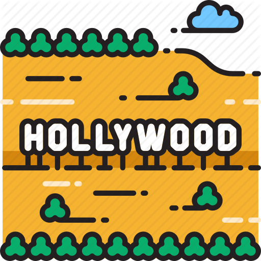 California, Hollywood, Los Angeles, Mount Lee, Sign Icon