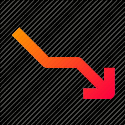 Business, Economics, Graph, Lose, Loss, Stats Icon