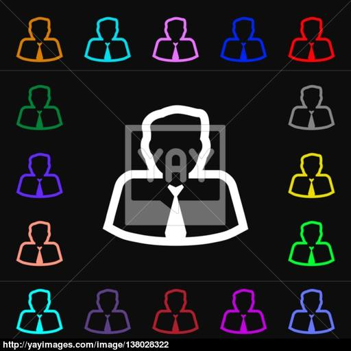 Avatar Icon Sign Lots Of Colorful Symbols For Your Design Vector