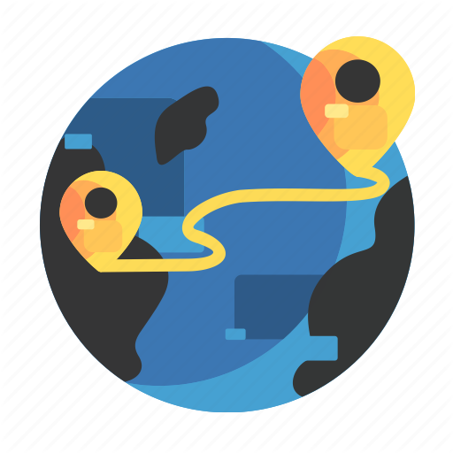 Delivery, Earth, Outside, Pinlocation Icon